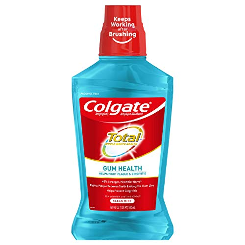 Colgate Total Gum Health Alcohol Free Mouthwash,...