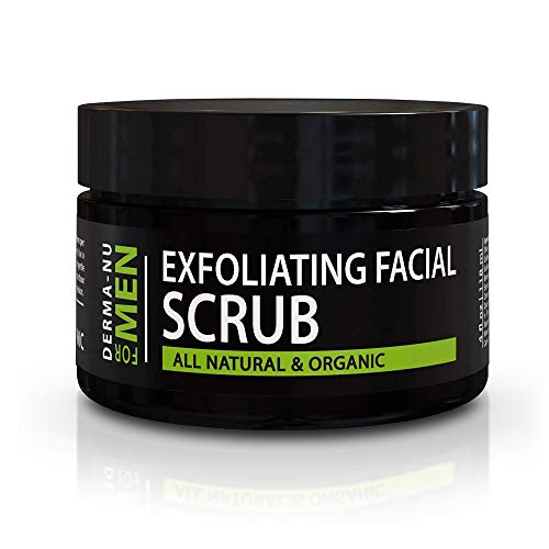 Exfoliating Mens Natural face scrub - Organic for...