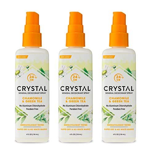 Crystal Essence Mineral Deodorant Spray, Chamomile...
