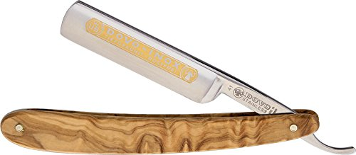 DOVO Inox Straight Razor with Olive Wood Handle...