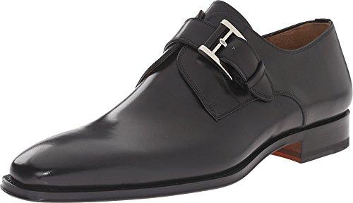 Magnanni Marco Black Men's Monk Strap Shoes