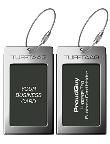 Luggage Tags Business Card Holder TUFFTAAG Travel...