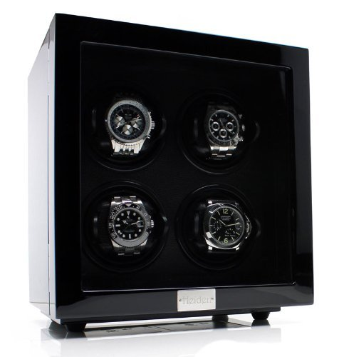 Heiden Vantage Quad Watch Winder with LCD - Black