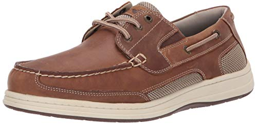 Dockers Men's Beacon Boat Shoe, Dark Tan, 11 W US