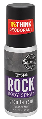 Crystal Mineral Deodorant Spray for Men, Granite...