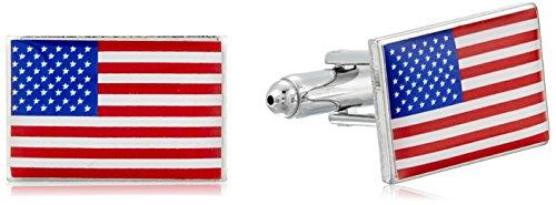 Wembley Men's USA Cufflinks, Silver, One Size