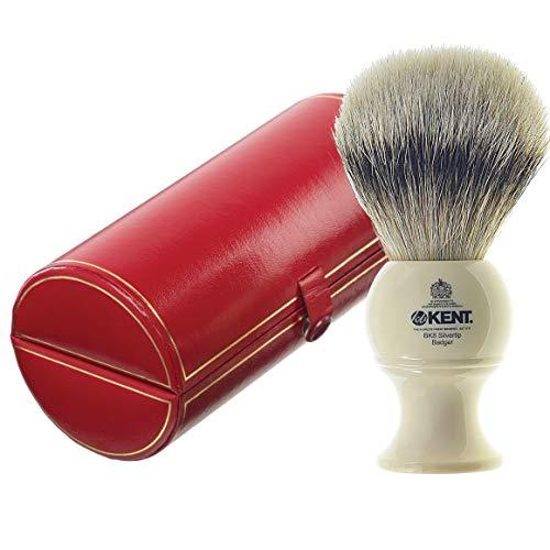 Kent BK8 Shaving Brush, Handcrafted Silver Tip...
