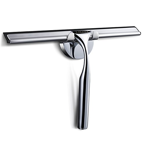 E-PRANCE Shower Window Squeegee, Deluxe Stainless...