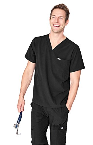 FIGS Medical Scrubs Men's Chisec Three Pocket Top...