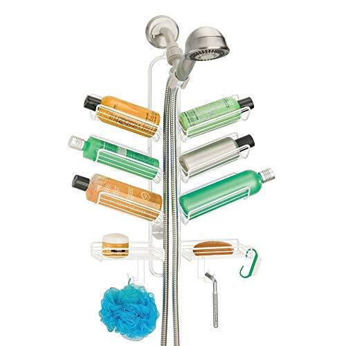 mDesign Metal Wire Bathroom Tub & Shower Caddy,...