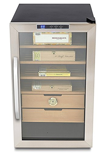 Whynter CHC-251S Stainless Steel 400-Cigar Cooler,...