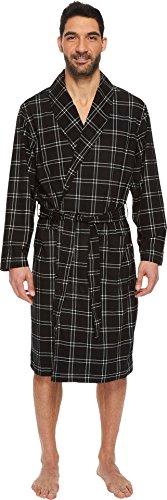 Tommy Hilfiger Men's Cozy Fleece Robe, Onyx Black...
