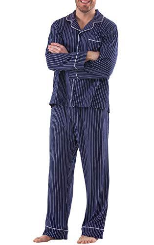 PajamaGram Classic Pajamas for Men - Cotton Mens...