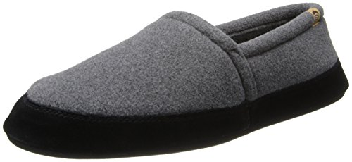 Acorn Men's Moc Slippers, Charcoal, 10.5-11.5