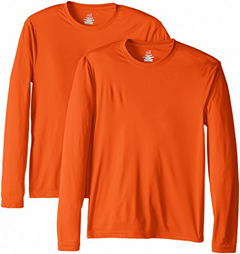 Hanes Men's Long Sleeve Cool Dri T-Shirt UPF 50+,...
