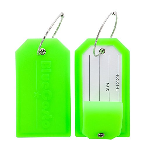 BlueCosto 2 Pack Luggage Tag Label Suitcase Tags...