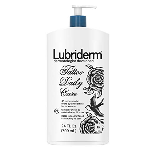 Lubriderm Tattoo Daily Care Water-Based Lotion,...