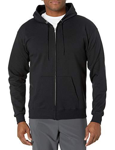 Hanes Men's Full-Zip Eco-Smart Hoodie, Black,...