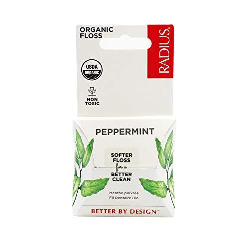 RADIUS USDA Organic Peppermint Dental Floss, 55...