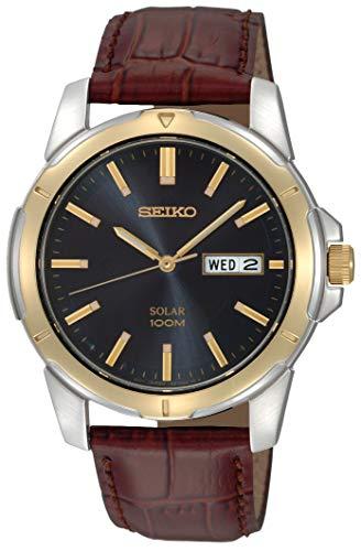 Seiko Men's SNE102 Stainless Steel Solar Watch...
