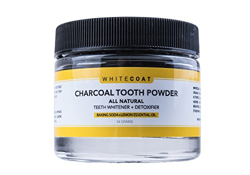 White Coat All Natural Teeth Whitening Charcoal...