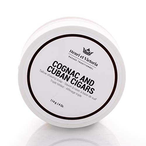 Cognac and Cuban Cigars Tallow Shaving Soap for...