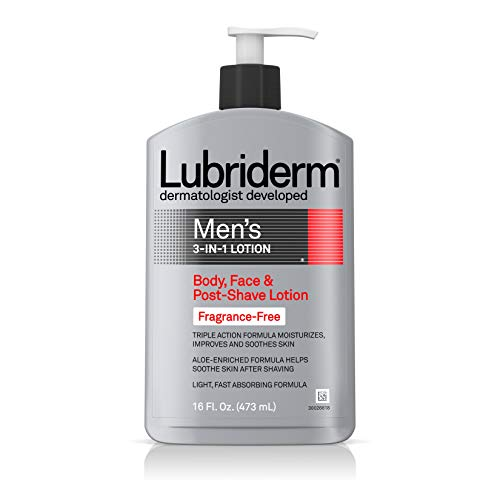Lubriderm Men's 3-In-1 Unscented Lotion Enriched...