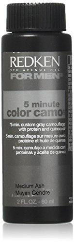 Redken 5 Minute Hair Color for Men, Medium Ash,2...