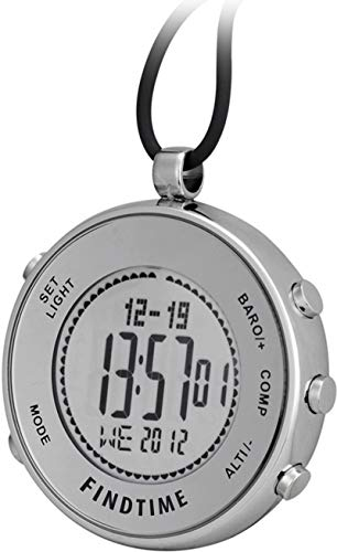 Pocket Clip Watches Silver Digital Sports Hiking...
