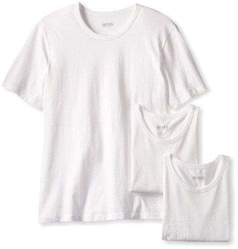 BOSS HUGO BOSS Men's 3-Pack Cotton Crew T-Shirt,...