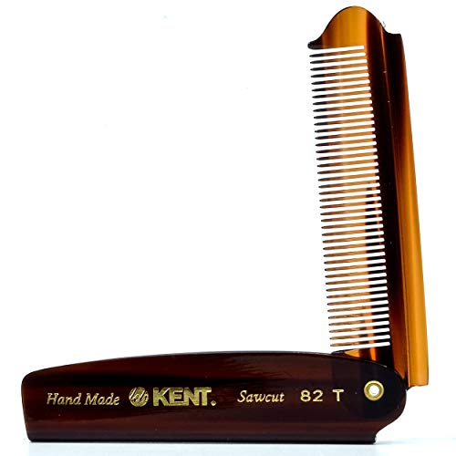 Kent 82T Hair Comb and Wide Tooth Beard...