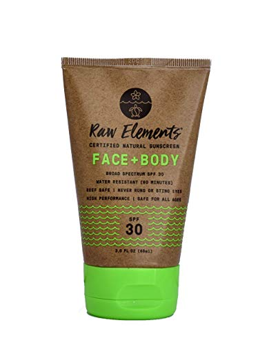 Raw Elements Organic SPF 30 Zinc Sunscreen, 3oz