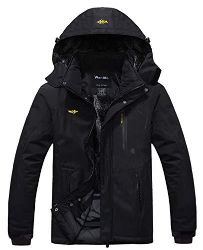 Wantdo Men's Waterproof Mountain Jacket Fleece...