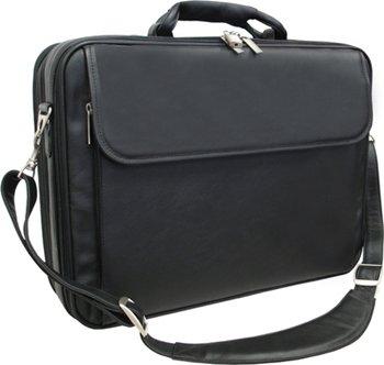 Amerileather Black Leather Notebook Computer Bag