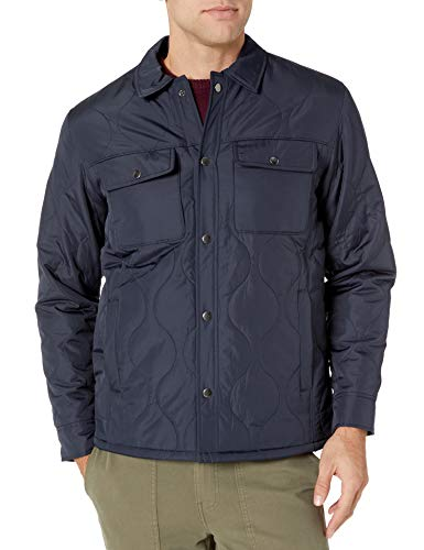 Amazon Essentials Men's Quilted Shirt Jacket,...