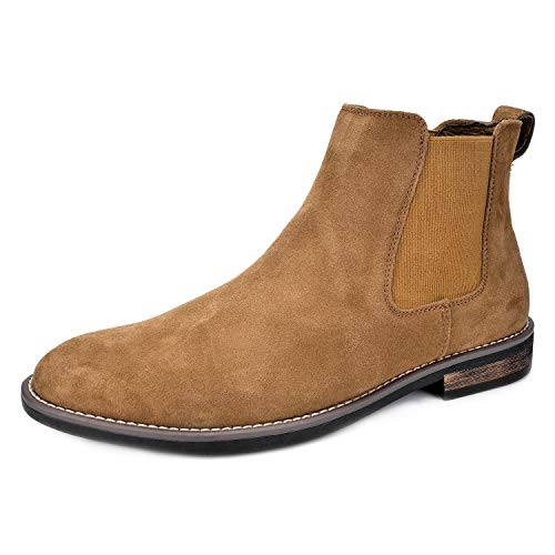 Bruno Marc Men's Urban-06 Tan Suede Leather...