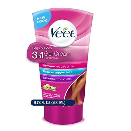 Veet Legs & Body 3 in 1 Gel Cream, 6.78 oz (Pack...