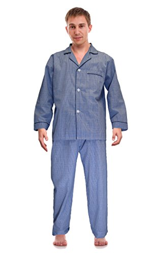 RK Classical Sleepwear Mens Broadcloth Woven...