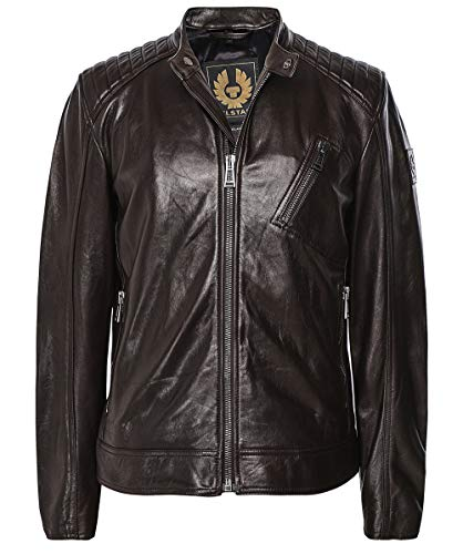 Belstaff Men's Leather V Racer Jacket Brown US 42