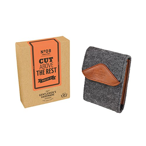 Gentlemen's Hardware Men's Manicure Kit with Case,...