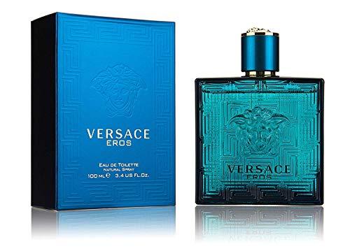 Versace Eros Eau de Toilette Spray for Men, 3.4 Fl...