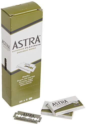 Astra Platinum Double Edge Safety Razor Blades...