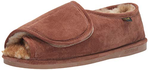Old Friend Men's Step-in Slipper, Chestnut II,...