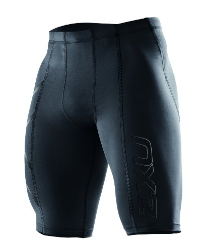 2XU Men's Compression Shorts, Black/Nero, X-Large