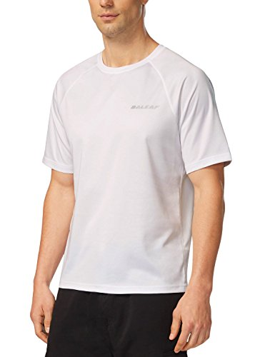 BALEAF Men's Short Sleeve Solid Sun Protection...