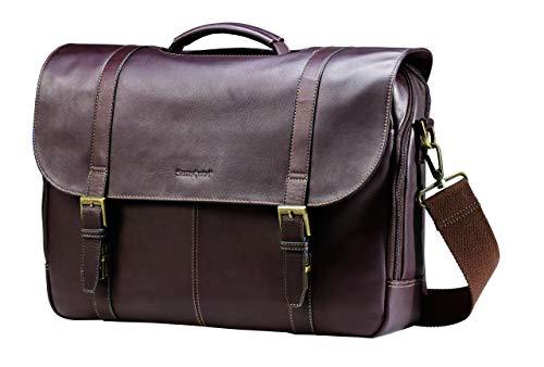Samsonite Colombian Leather Flap-Over Messenger...