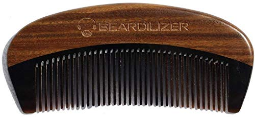 Beardilizer Beard Comb - 100% Natural Black Ox...