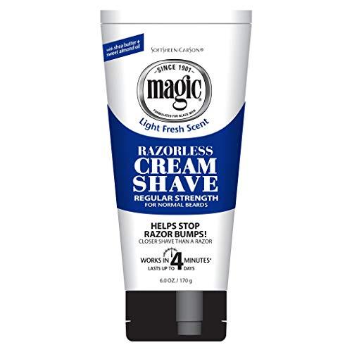 Magic Razorless Cream Shave Regular Strength Light...