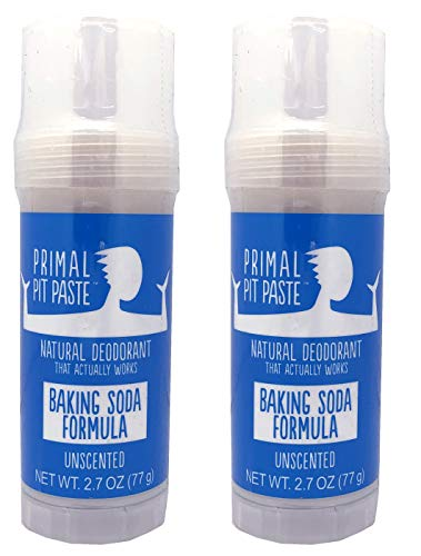 Primal Pit Paste Natural Deodorant Unscented Pack...