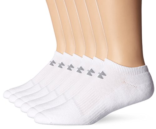 Under Armour Mens Charged Cotton 2.0 No Show 6...